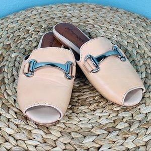 Jeffrey Campbell size 7.5 Nude Slides Flats